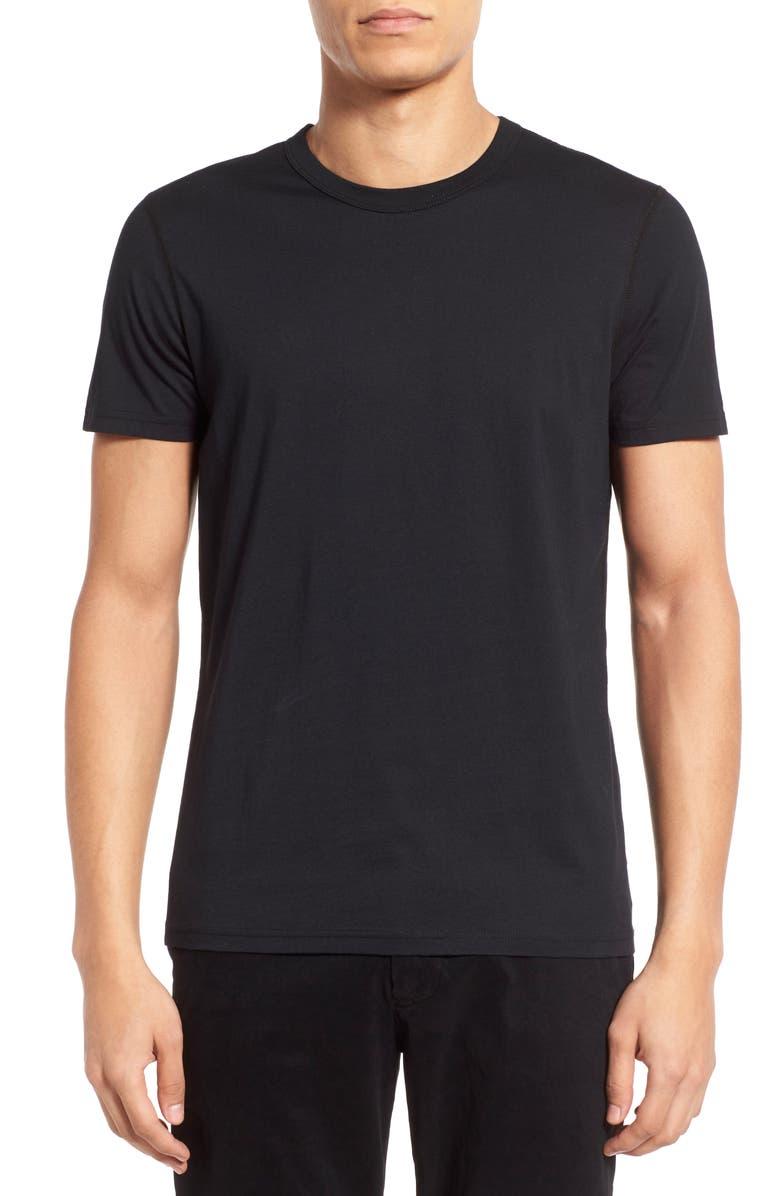 REIGNING CHAMP Short Sleeve Crewneck T-Shirt, Main, color, BLACK