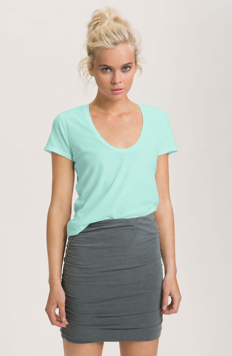 JAMES PERSE Scoop Neck Cotton Tee, Main, color, 440