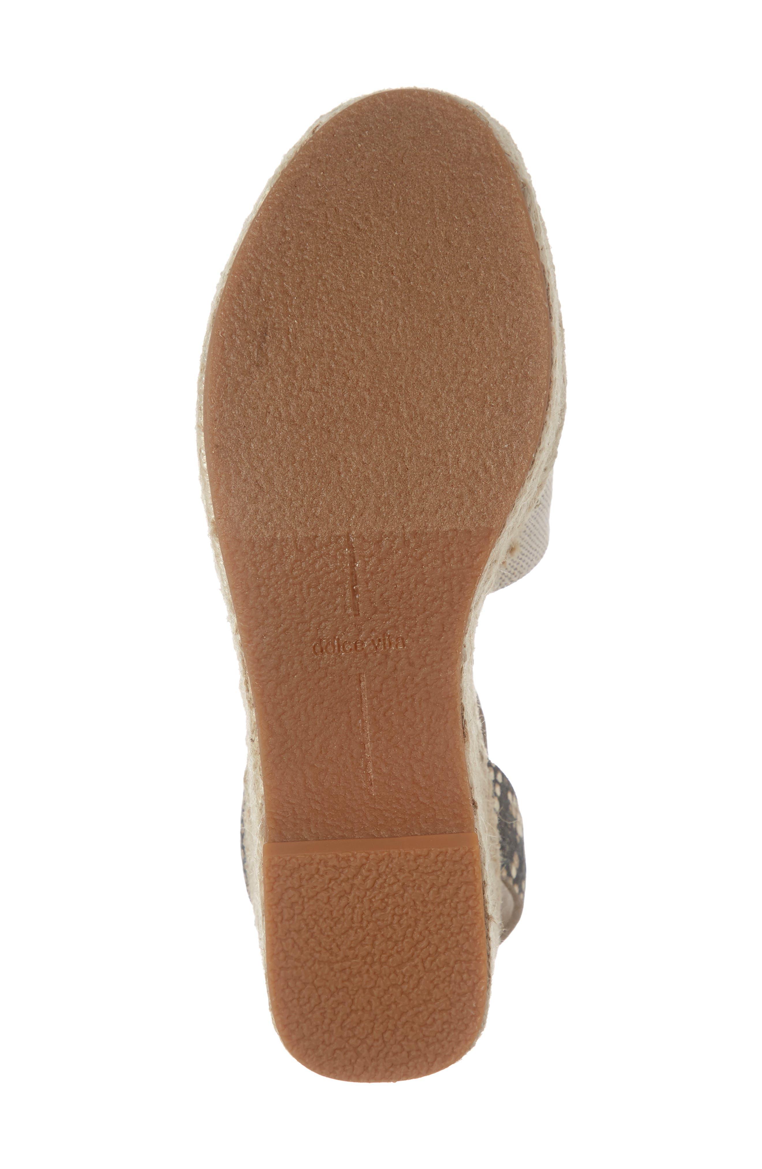 ,                             Lesly Espadrille Platform Sandal,                             Alternate thumbnail 6, color,                             NATURAL FABRIC