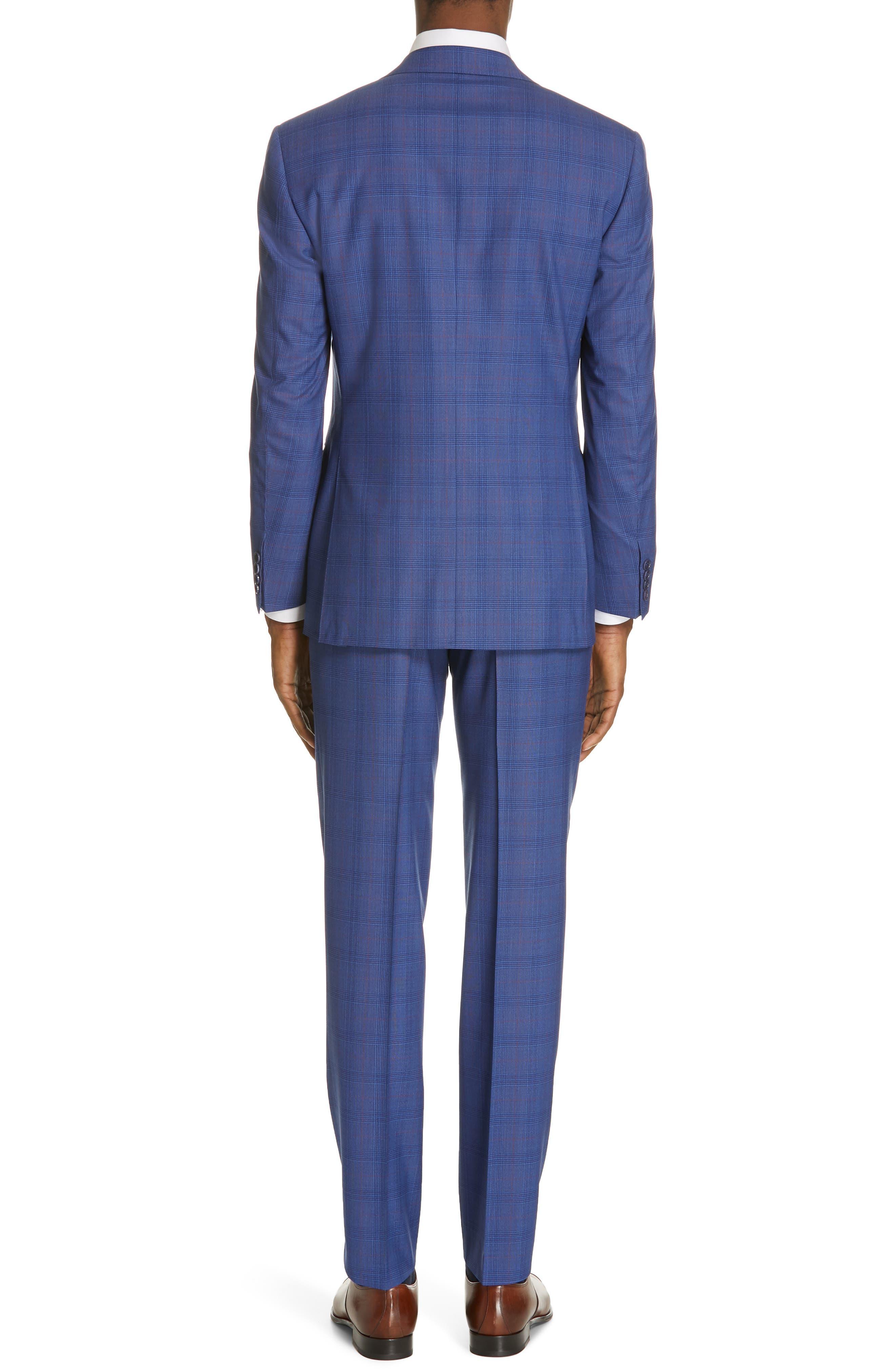 ,                             Siena Classic Fit Deco Plaid Super 130s Wool Suit,                             Alternate thumbnail 2, color,                             BLUE