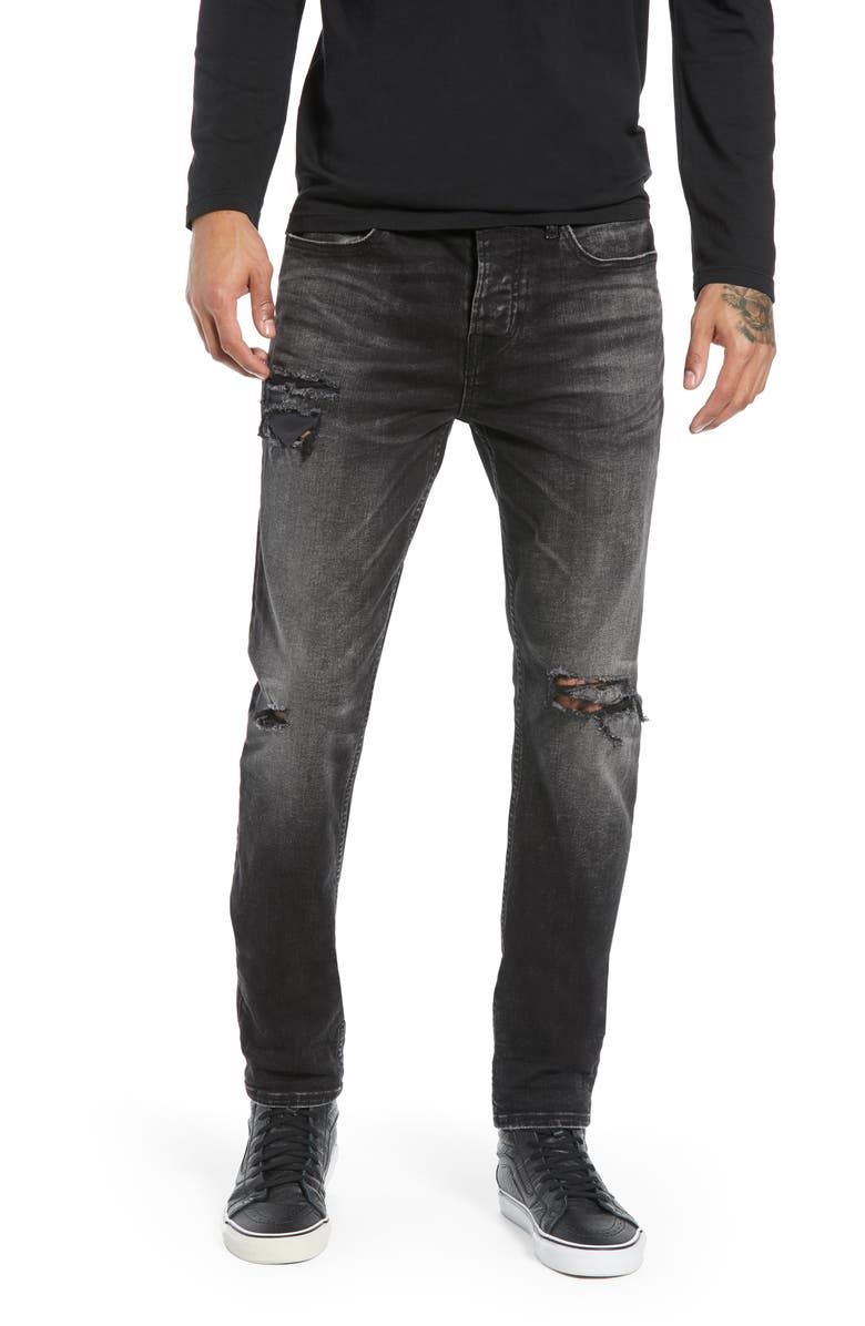 HUDSON JEANS Axl Ripped Skinny Fit Jeans, Main, color, 400
