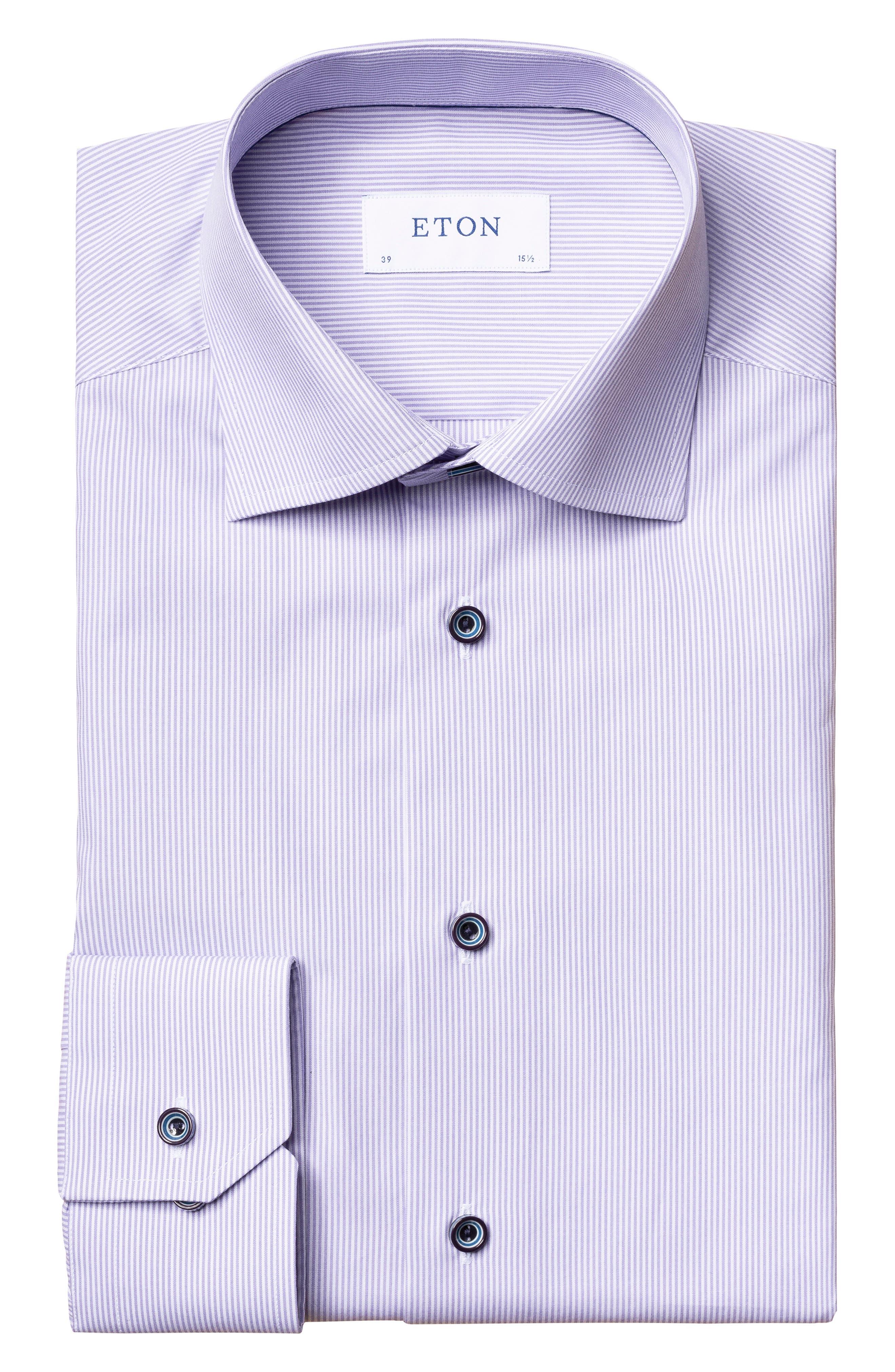 Image of Eton Slim Fit Stripe Fit Shirt