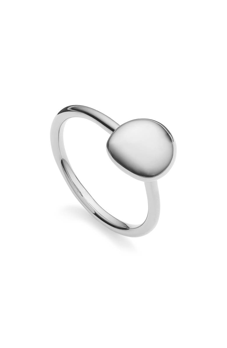 MONICA VINADER Nura Small Pebble Stacking Ring, Main, color, SILVER