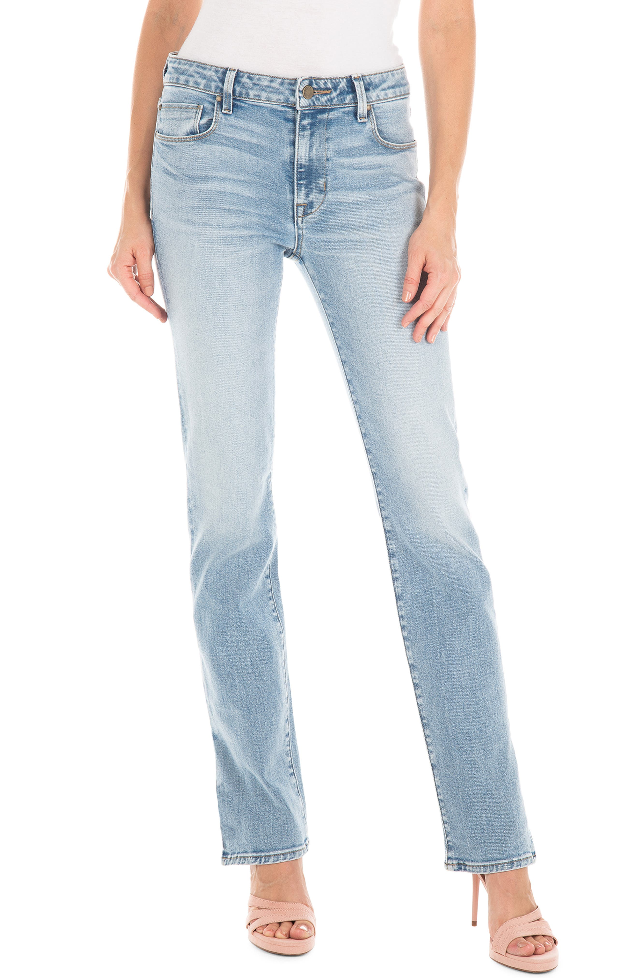 Cher High Waist Ankle Slim Jeans, Main, color, BUTTERFLY BLUE