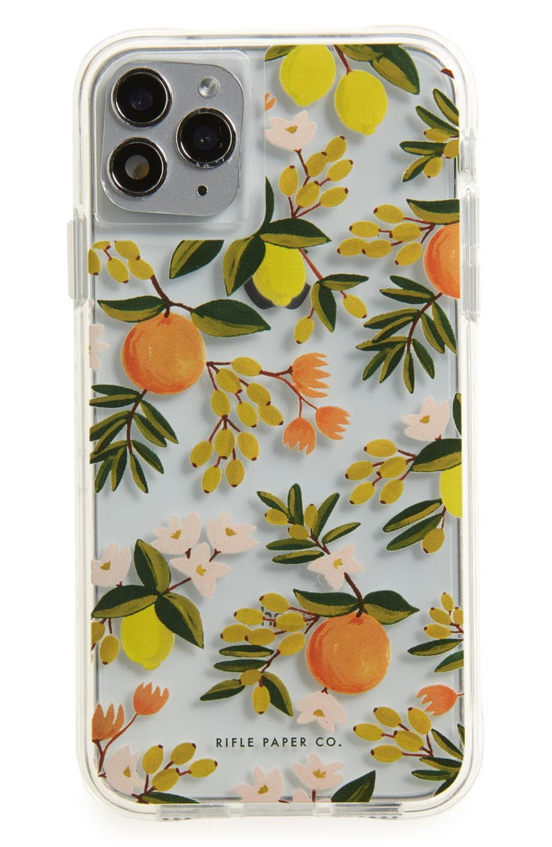 CASE-MATE<SUP>®</SUP> x Rifle Paper Co. Citrus Floral iPhone 11, 11 Pro & Pro Max Case, Main, color, CLEAR/ MULTI