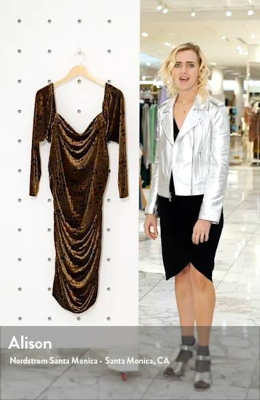 Long Sleeve Ruched Velour Minidress, sales video thumbnail