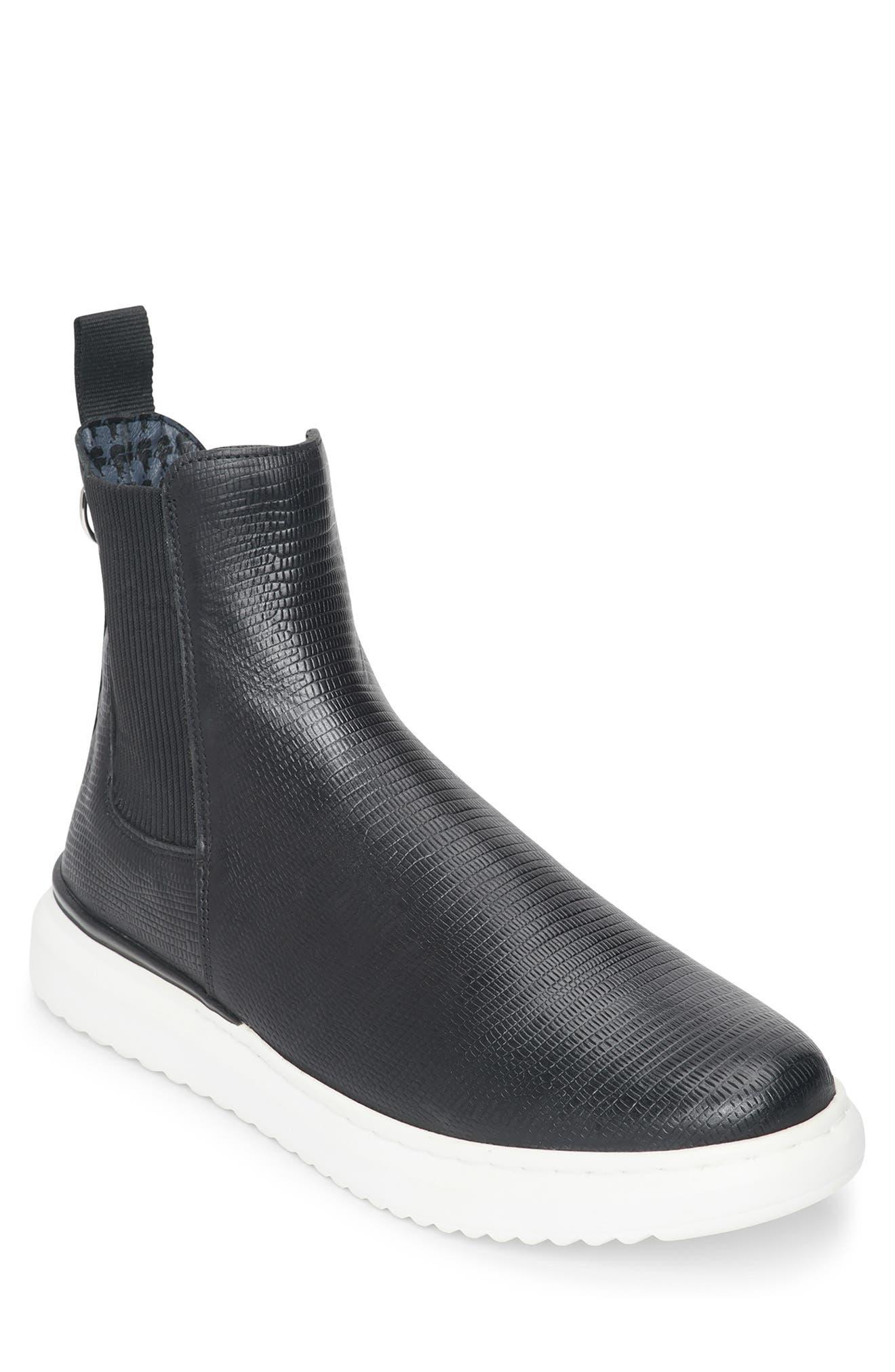 Lizard Embossed Chelsea Boot