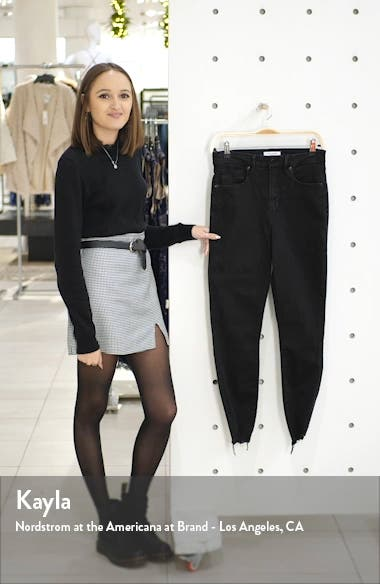 Good Waist Crop Chewed Hem Skinny Jeans, sales video thumbnail