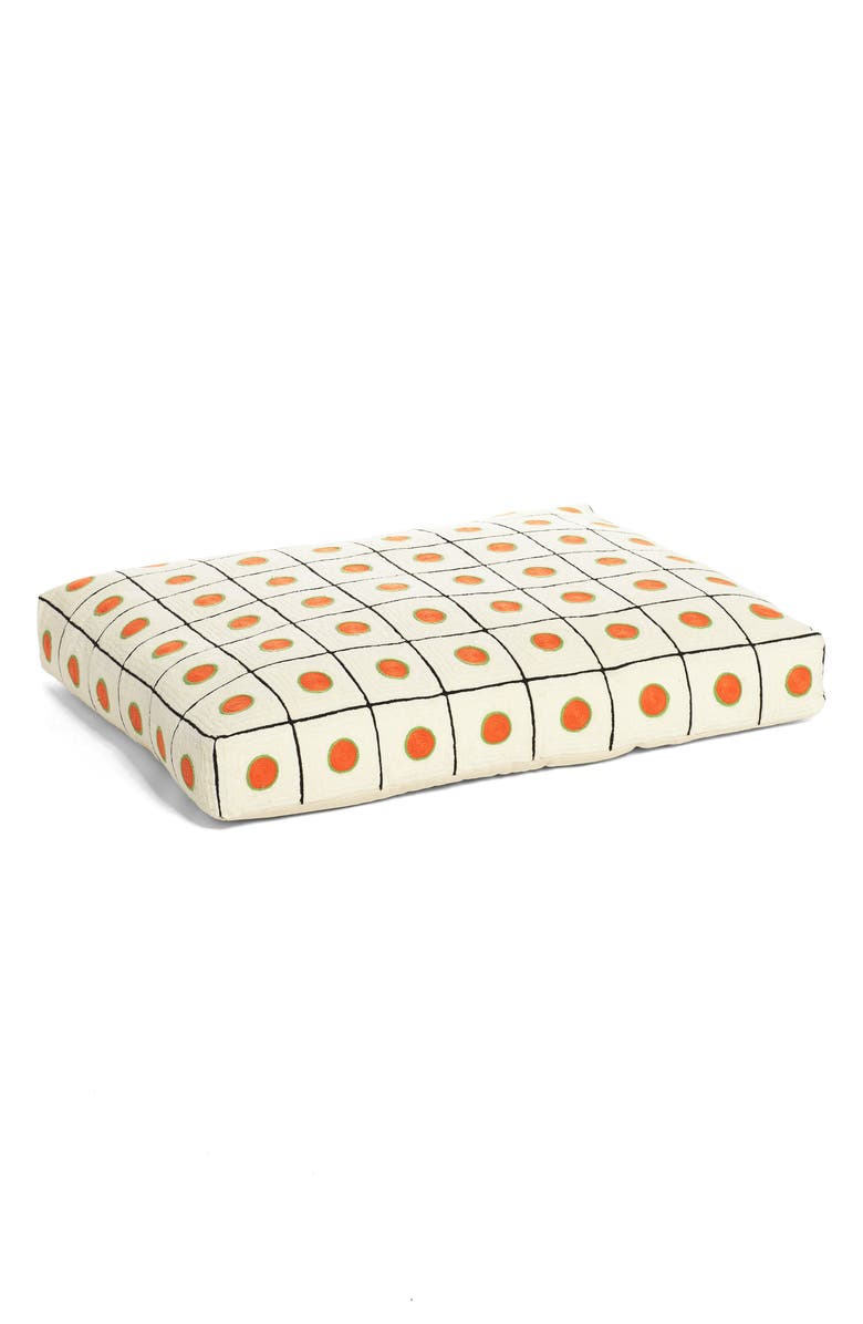 DUSEN DUSEN Dot Embroidered Dog Bed, Main, color, 100