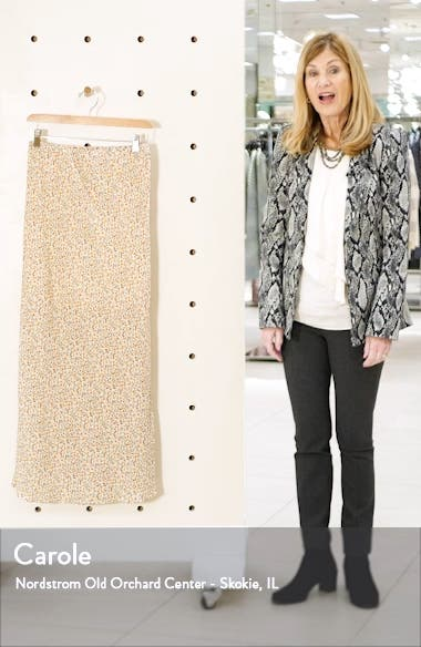 Sheer Floral Print Maxi Skirt, sales video thumbnail