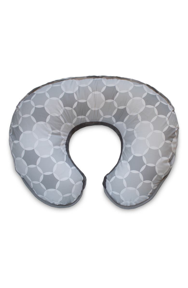 BOPPY Minky Two-Sided Plush Feeding & Infant Support Pillow, Main, color, GREY