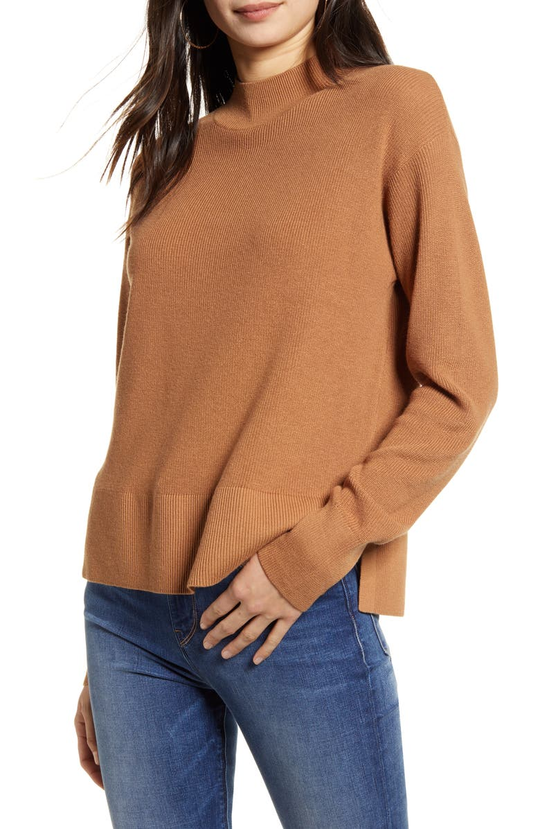 CHELSEA28 Ribbed Pullover, Main, color, TAN THRUSH