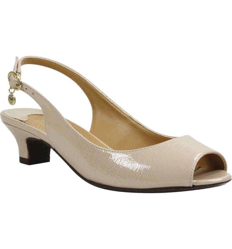 J. RENEÉ Jenvey Slingback Sandal, Main, color, NUDE LIZARD PRINT