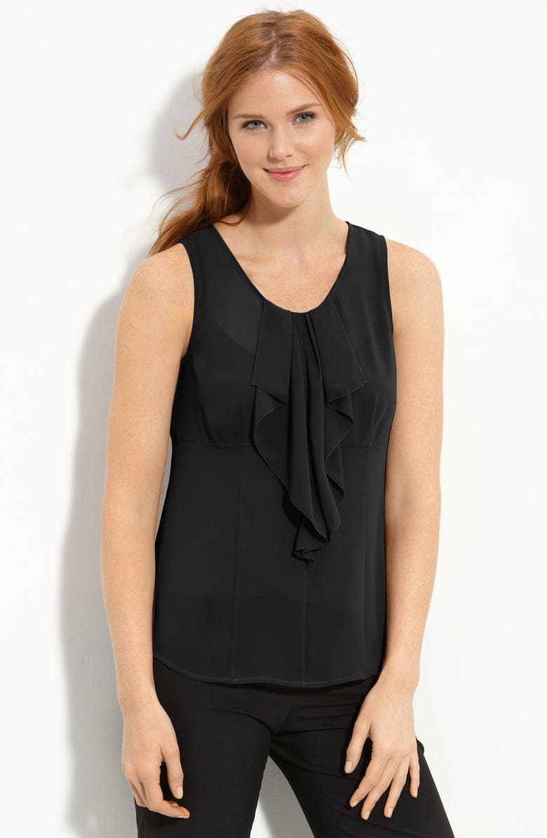 HALOGEN<SUP>®</SUP> Sleeveless Ruffle Blouse, Main, color, 001