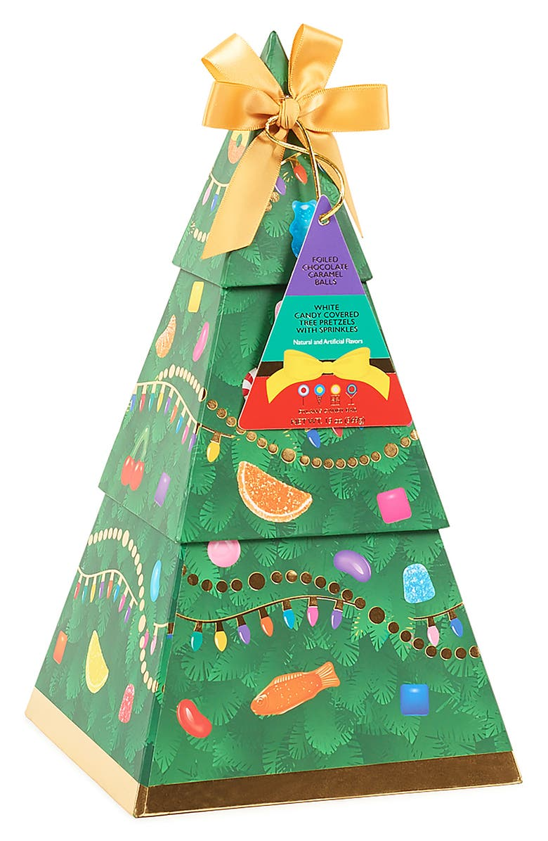 DYLAN'S CANDY BAR Christmas Tree Candy Set, Main, color, GREEN