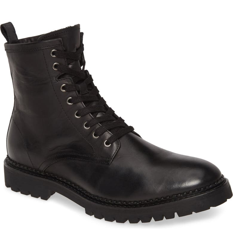 ALLSAINTS Whitmore Plain Toe Boot, Main, color, BLACK LEATHER