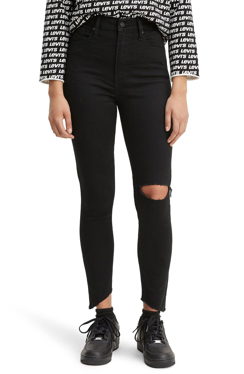 LEVI'S<SUP>®</SUP> Mile High Ripped Super Skinny Jeans, Main, color, IN THE BLACK