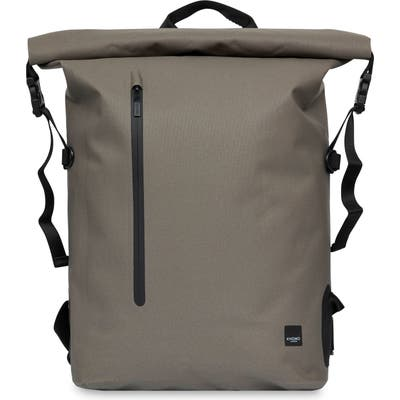 Knomo London Thames Cromwell Roll Top Backpack - Beige