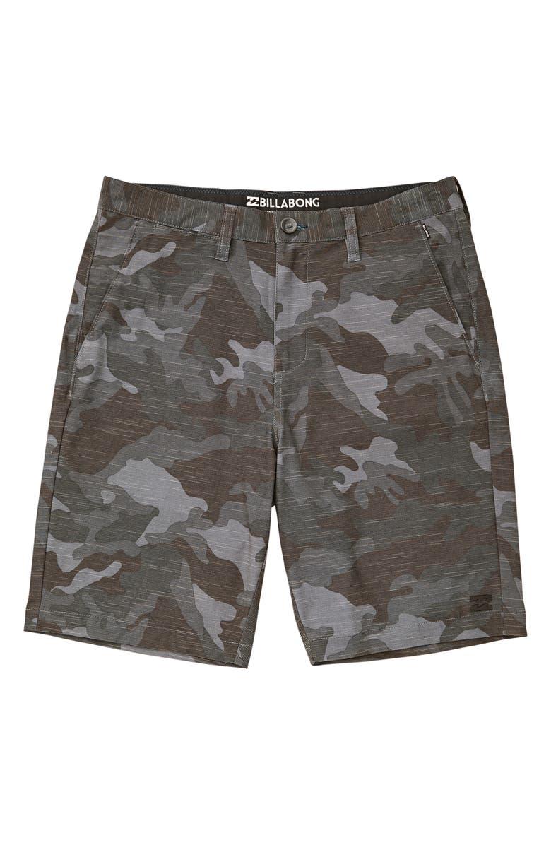 BILLABONG Crossfire X Slub Hybrid Shorts, Main, color, CHAR CAMO