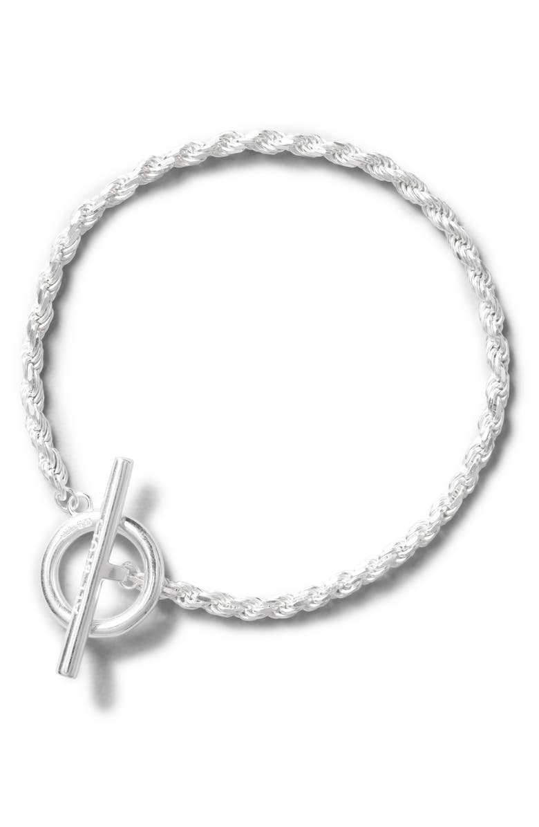 ALL BLUES Rope Bracelet, Main, color, SILVER