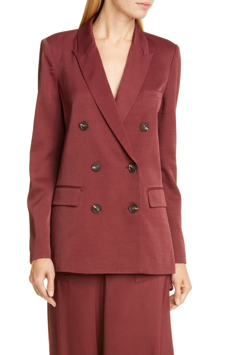 OPENING CEREMONY Oversize Double Breasted Blazer, Main, color, UMBER