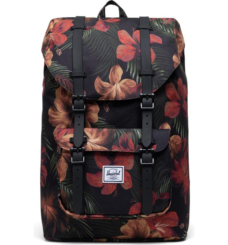 HERSCHEL SUPPLY CO. Little America - Mid Volume Backpack, Main, color, TROPICAL HIBISCUS