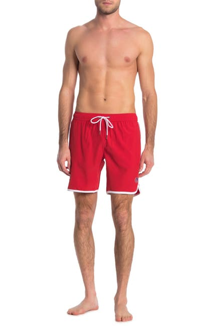 Image of Mr. Swim Contrast Binding Solid Swimming Trunks