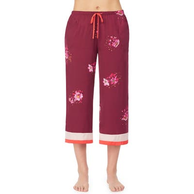 Room Service Crop Pajama Pants, Burgundy (Nordstrom Exclusive)