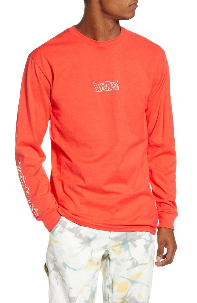 VANS OTW Framework Long Sleeve Graphic T-Shirt, Main, color, HIBISCUS