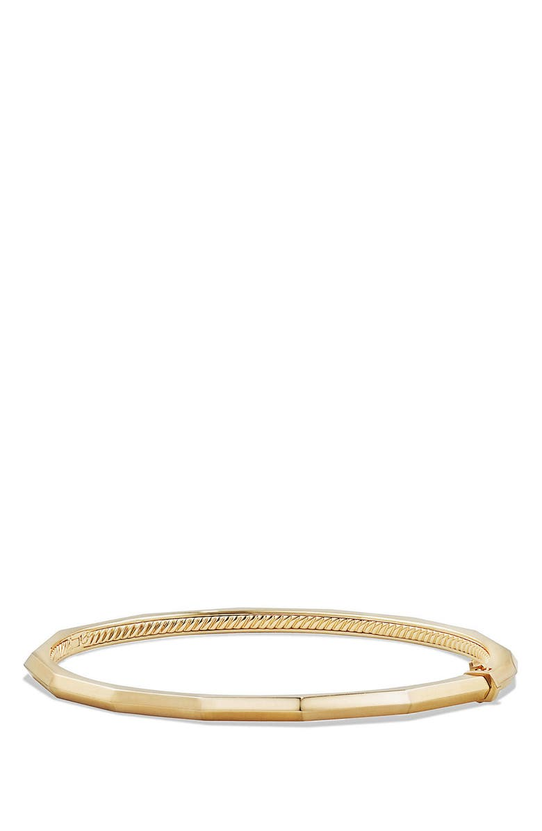 DAVID YURMAN Stax Faceted Bracelet, Main, color, YELLOW GOLD