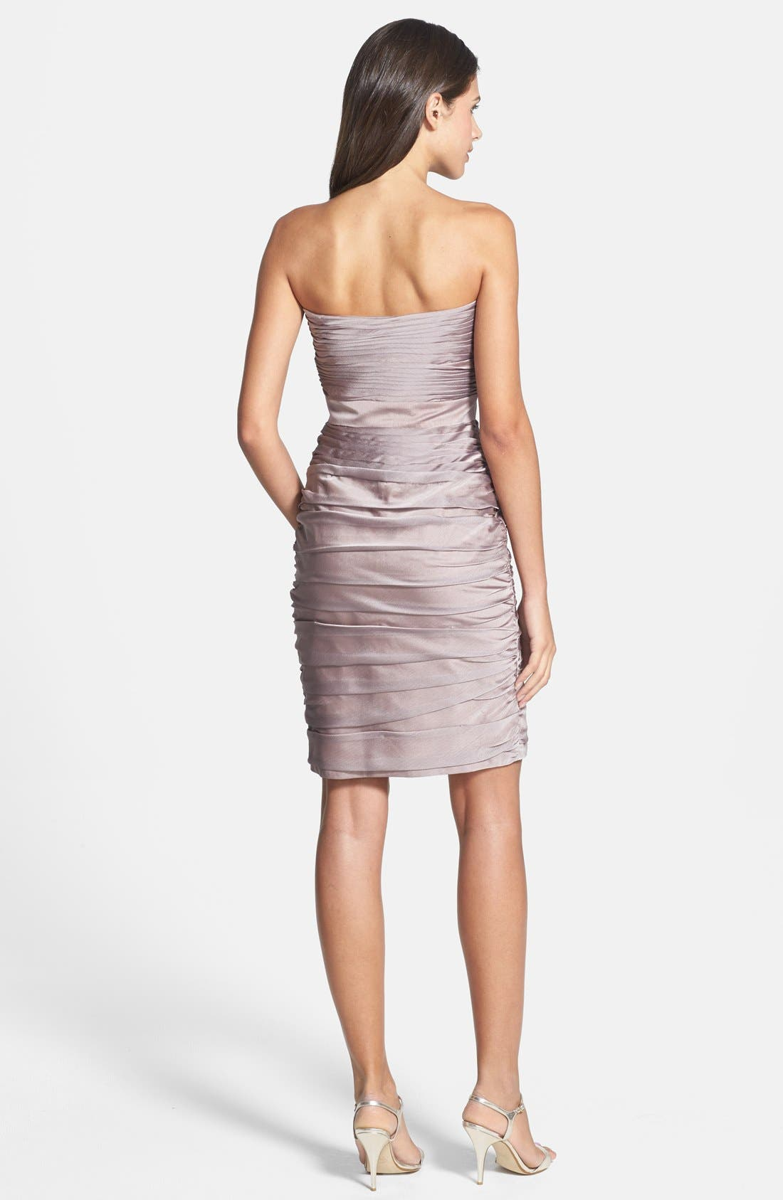 ,                             Ruched Strapless Cationic Chiffon Dress,                             Alternate thumbnail 18, color,                             262
