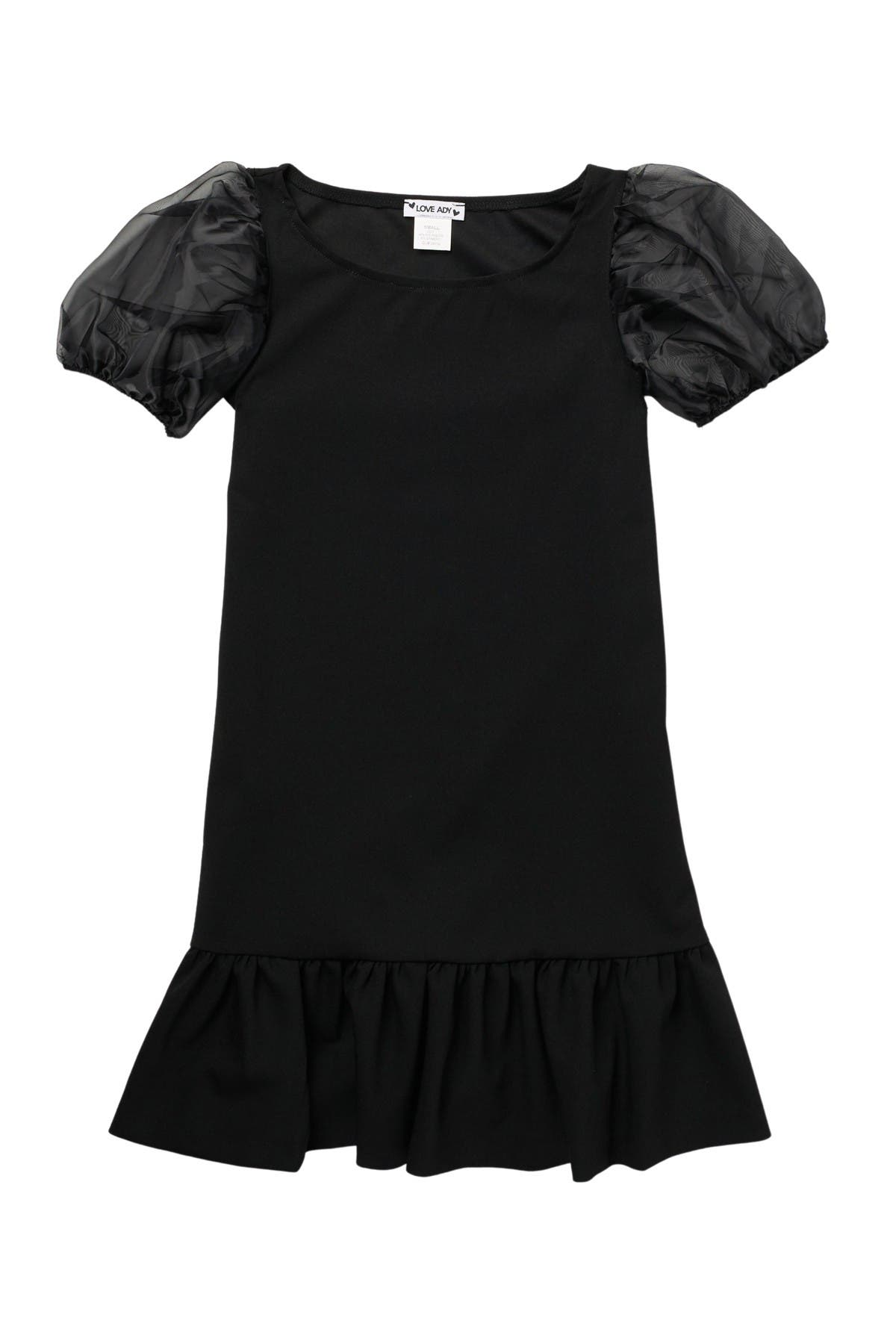 Image of Love...Ady Sheer Puff Sleeve Skater Dress