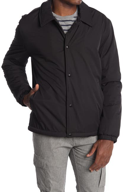 Image of Cole Haan Faux Shearling Lined Coach Jacket