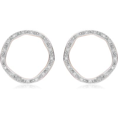 Monica Vinader Riva Large Circle Diamond Stud Earrings