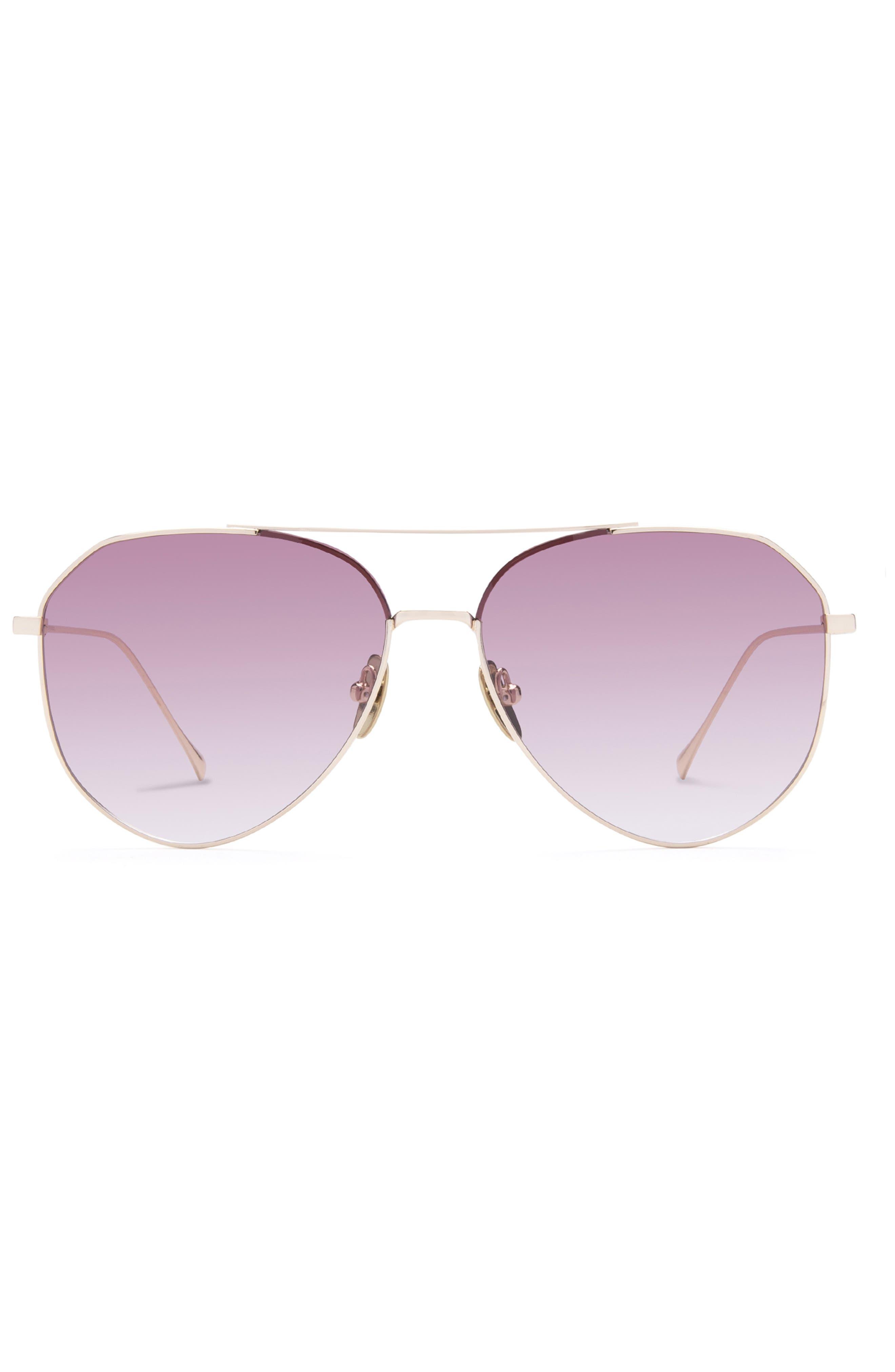 Dash 55mm Gradient Aviator Sunglasses