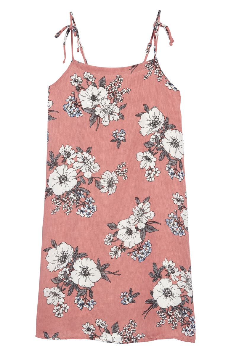 TEN SIXTY SHERMAN Floral Print Sundress, Main, color, MAUVE FLORAL