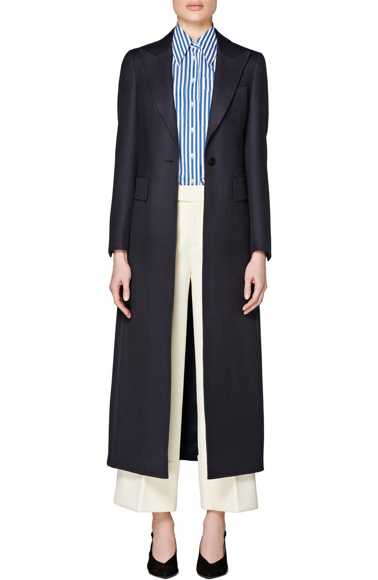SUISTUDIO Dane Wool Overcoat, Main, color, NAVY