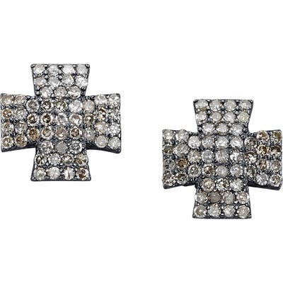 Sheryl Lowe Maltese Diamond Stud Earrings