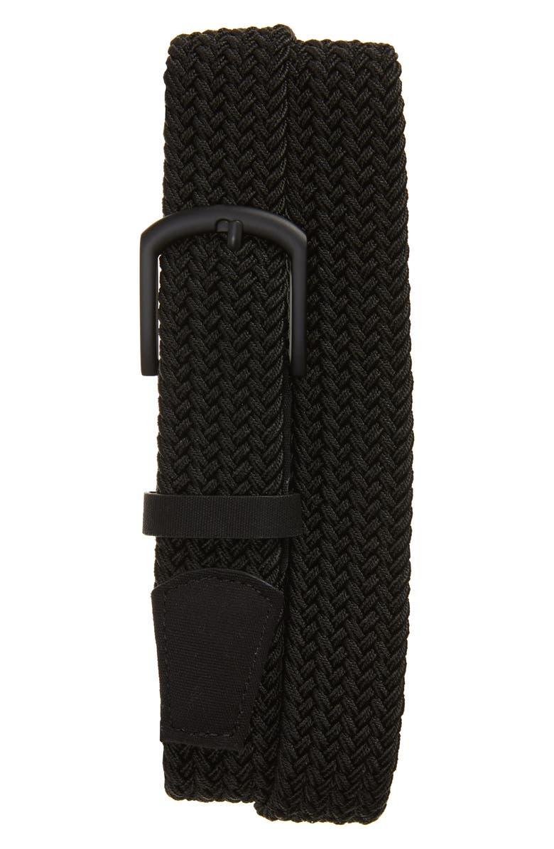 CUATER BY TRAVIS MATTHEW Voodoo Woven Belt, Main, color, BLACK