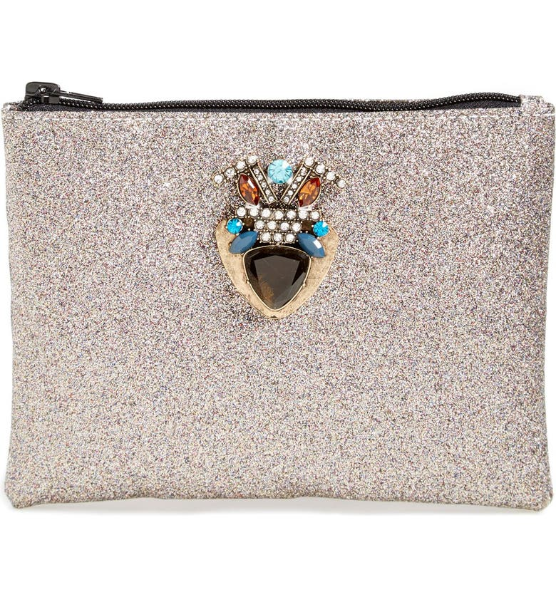 BERRY Embellished Glitter Clutch, Main, color, 040