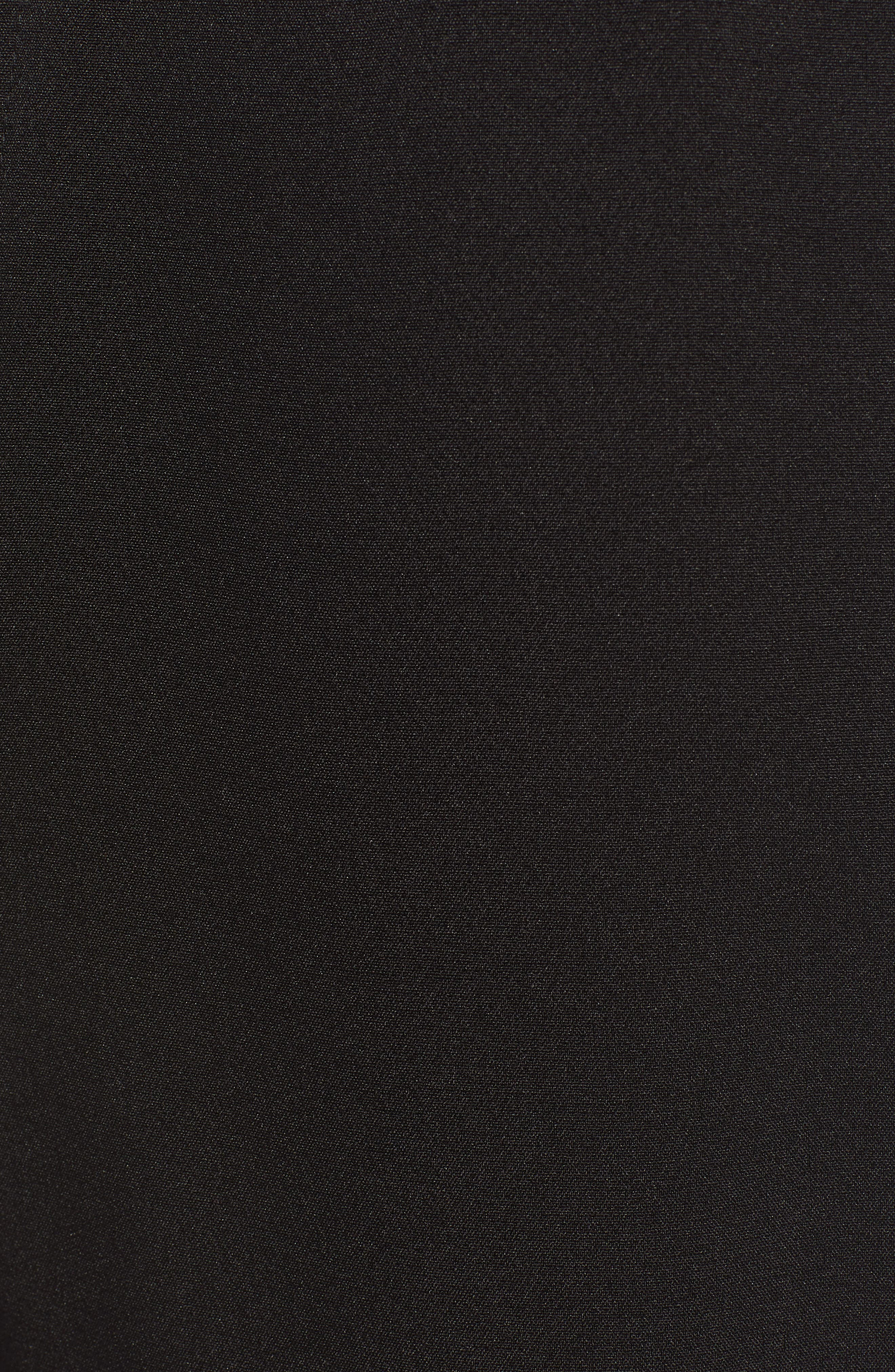,                             Classic Fit Side Stripe Cropped Jogger Pants,                             Alternate thumbnail 6, color,                             BLACK