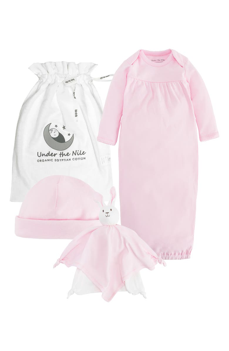UNDER THE NILE Organic Egyptian Cotton Baby Essentials Gift Set, Main, color, PINK
