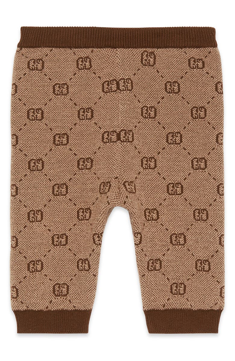 GUCCI Logo Jacquard Leggings, Main, color, CAMEL MULTI