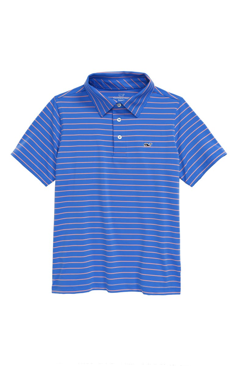 VINEYARD VINES Sankaty Worth Stripe Performance Polo, Main, color, 402