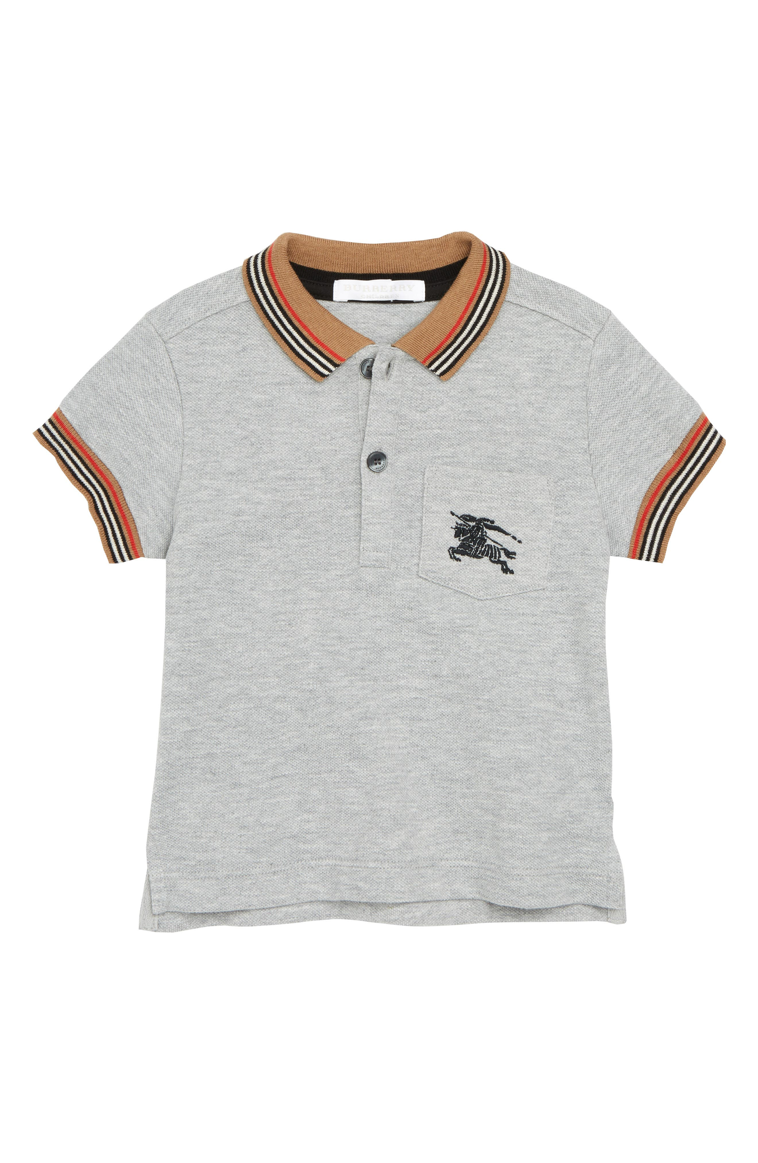 Mini Noel Polo, Main, color, GREY MELANGE