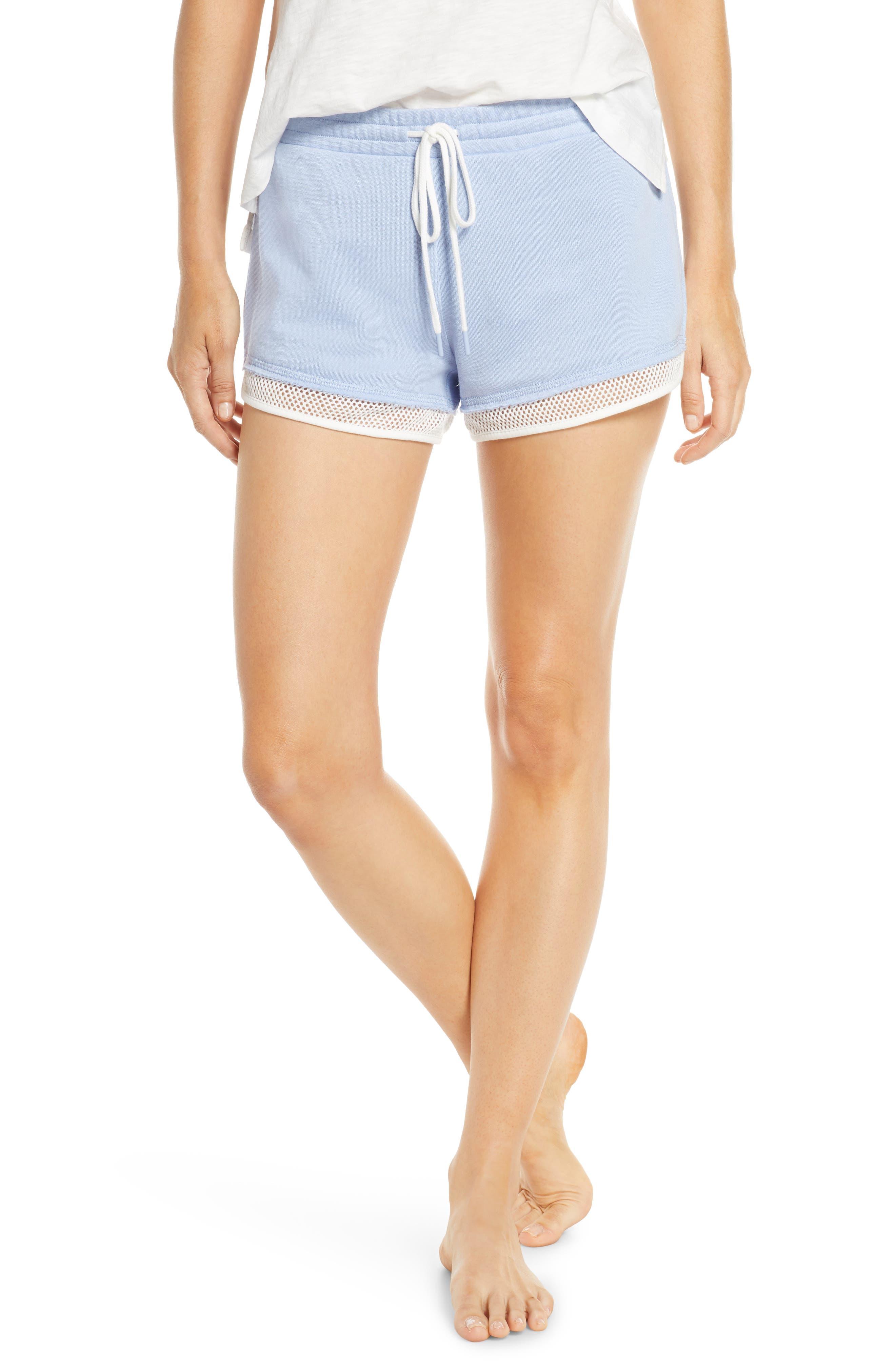Pj Salvage Salty Days Pajama Shorts, Blue