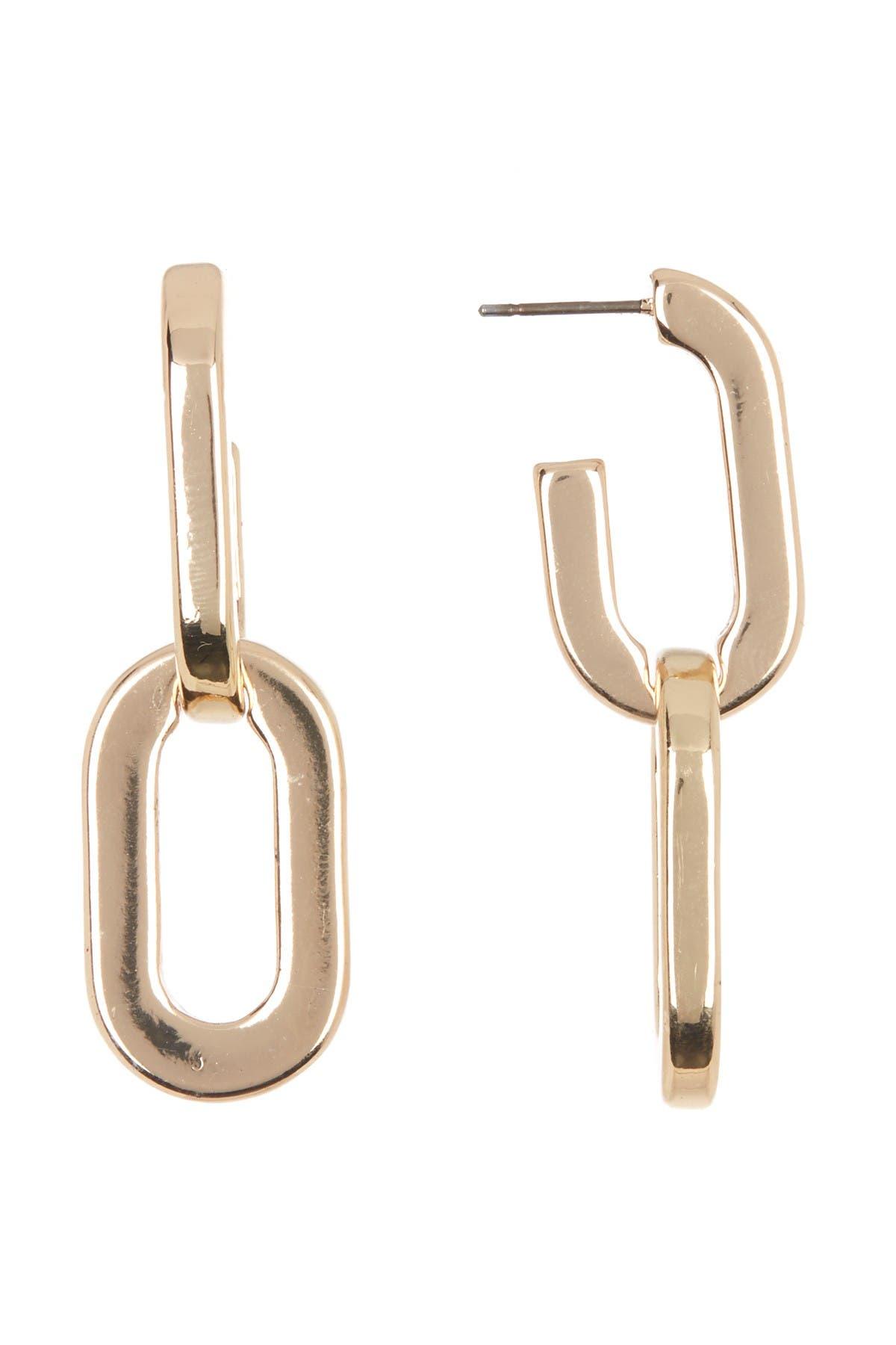 Image of AREA STARS Wide Link Dangle Earrings