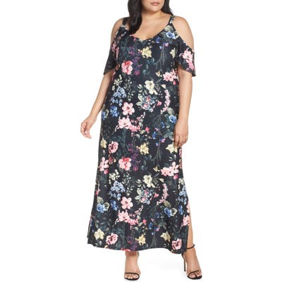 Plus Size Rachel Rachel Roy Cold Shoulder Floral Maxi Dress