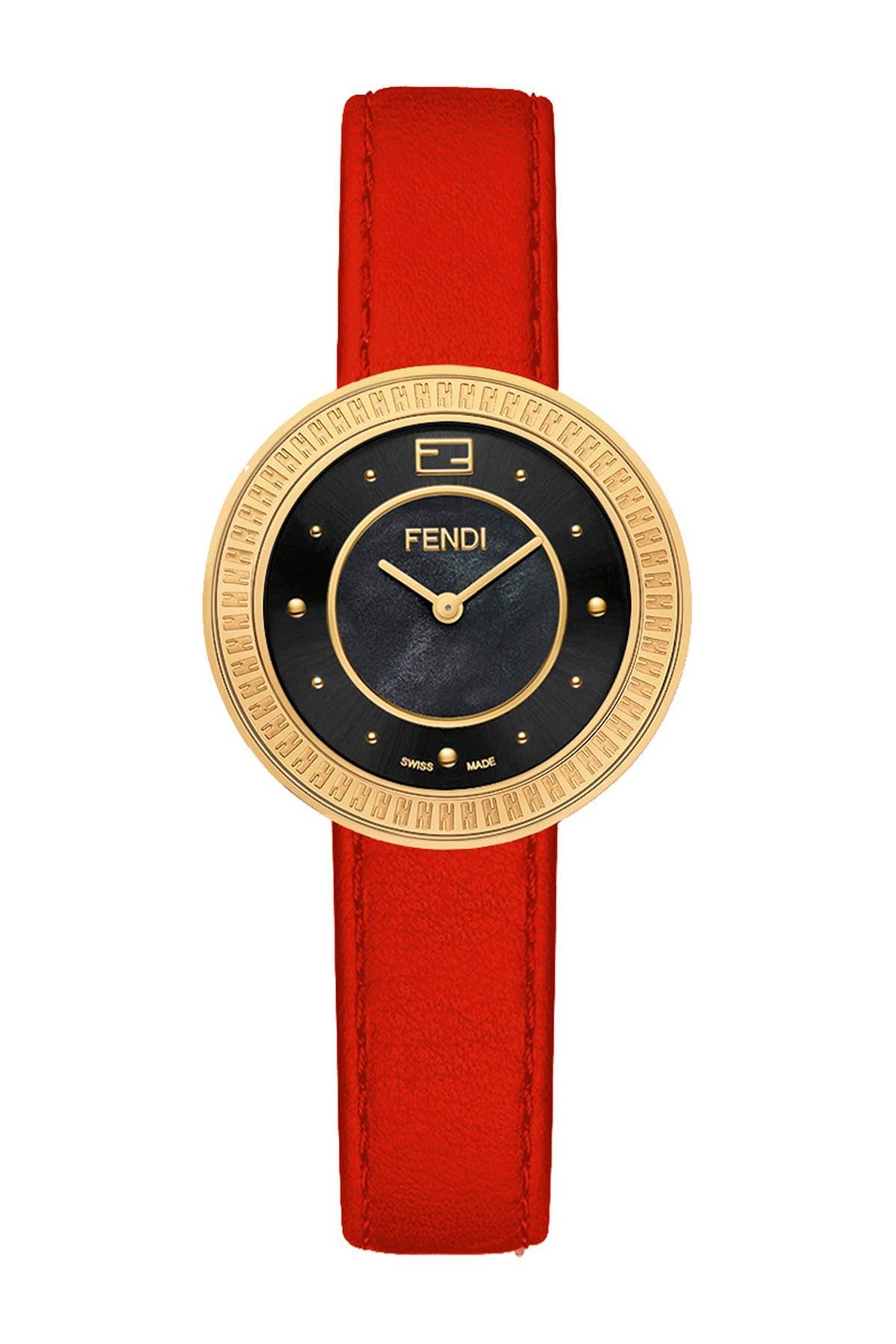 Image of FENDI Women's Fendi My Way Leather Strap Watch, 28mm