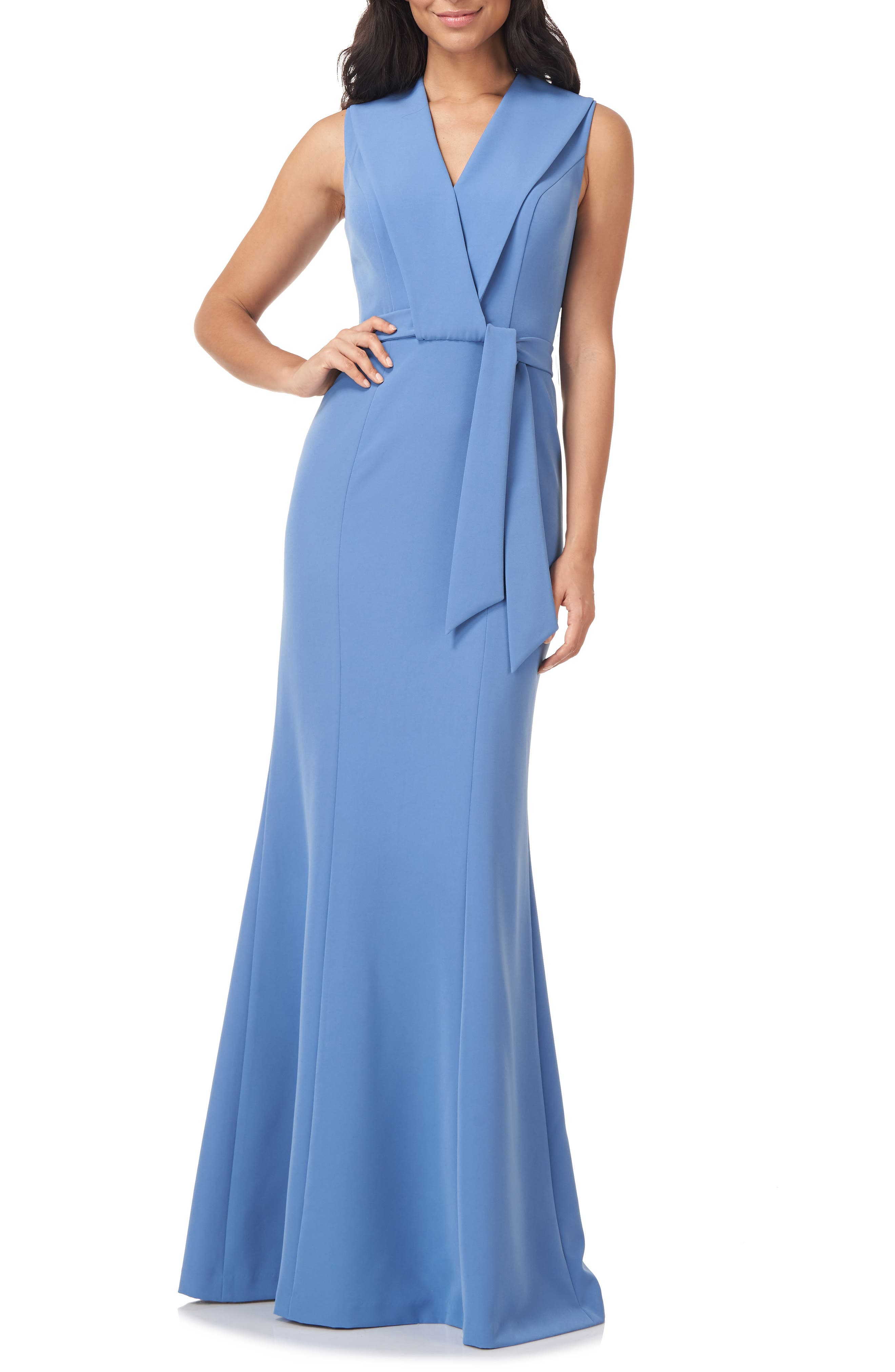 Cecily Belted Sleeveless Gown